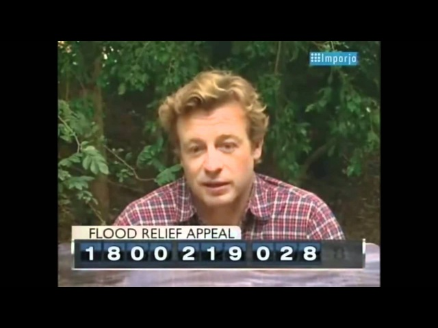 Simon Baker - Queensland Flood Relief: Australia Unites (09/01/2011)