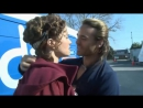 Dustin Clare and Lucy Lawless kiss ( Gannicus and Lucretia from Spartacus)