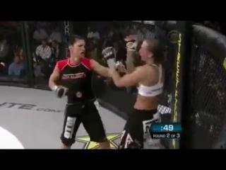 Джина Корано лучшая в тайском боксе среди девушек в мире!Чемпионка мира по боям без правил ММА [360p]
