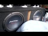 2x Pioneer ts-w310 d4 M Acoustic 1000.1 ( bass, db, spl, sond, low, flex, alphard, pioner )
