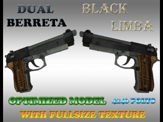 CS:GO Black limba Dual Berettas HD for CS 1.6