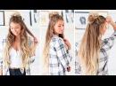 Easy Messy Half Bun Luxy Hair