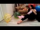 Nathalie Fetish Dreams blows and pops spiral balloon