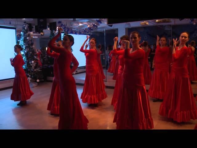 Испанский танец Firedance (школа танцев «Мартэ»)