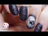 Sugar spun spiderweb nail art tutorial for Halloween