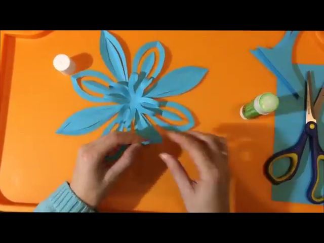 Объемная снежинка из бумаги. 3D Paper Snowflake
