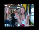 Two young college student young teens show their tits on webcam in crowded cafe. Public nude Домашнее любительское частное видео