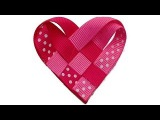 How To Make a Ribbon Woven Heart Valentine's Day Hair Clip