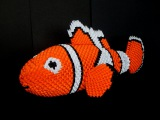 How to make 3d origami NEMO fish ( Finding Nemo ) part1