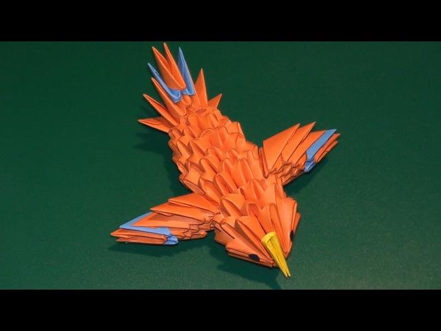 3D origami a hummingbird (a canary) tutorial