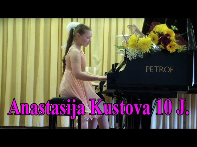 Mozart-Grieg Sonata in C Major.Duo Anastasija Kustova 10 years old.Sankt-Peterburg
