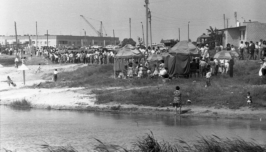 День города 1990 год. Колонский пруд