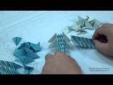 Как сделать стрекозу из модулей оригами. Модульное оригами