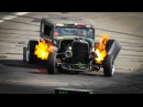 The FLAMETHROWER RAT ROD Epic Drift Show / Gymkhana