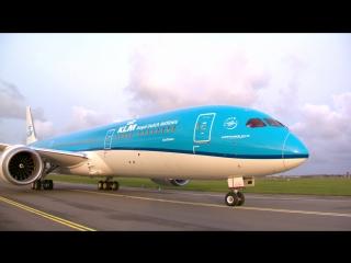 Прибытие первого Дримлайнера KLM Boeing 787