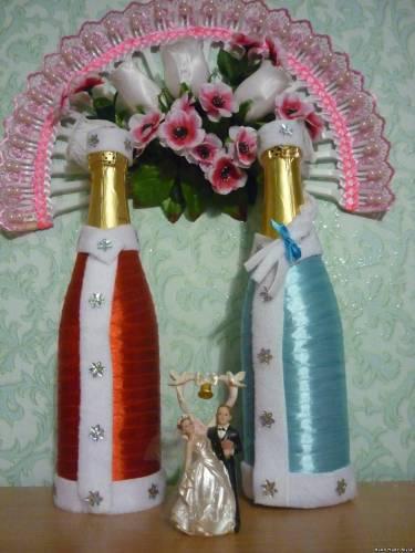 Украшение бутылки шампанского своими руками к новому году