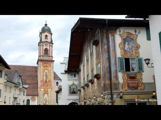 MITTENWALD Villaggio alpino affrescato - Baviera - HD