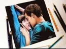 Drawing poster Fifty Shades of Grey | Desenhando o Poster do Filme Cinquenta Tons de Cinza