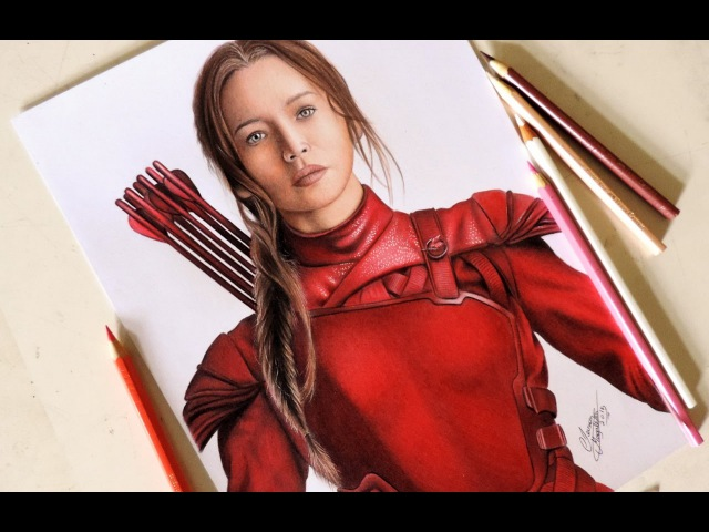 Drawing Katniss - Jogos Vorazes ( The Hunger Games )