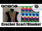 Crochet Moss  Seed  Stitch Scarf  Afghan Tutorial