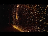 Огненное колесо в Slow Mo [Catherine Wheel Firework]