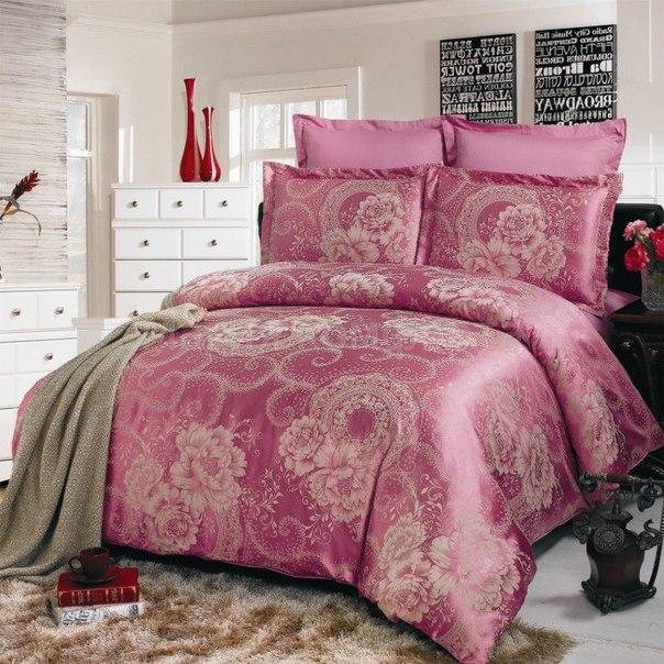 семейный комплект постельного белья купить в интернет магазине
