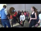 Присед, 1 подход. Дементьева Юлия, 60 кг