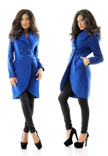 продам новое пальто 46р,цвет электрик. ткань-кашемир на подкладке. длина по спин...