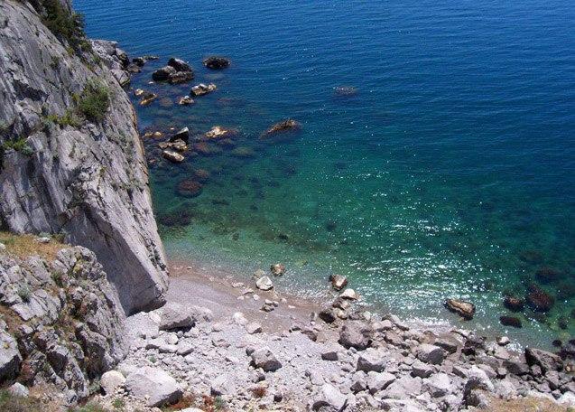 Дикий пляж фото