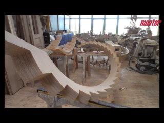 Изготовление деревянной балки для винтовой лестницы