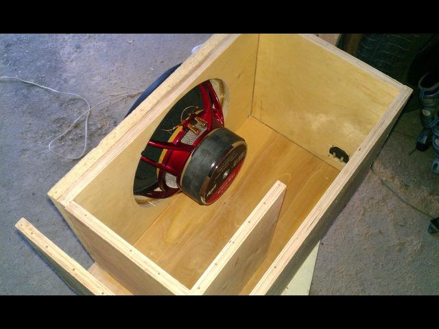 Как сделать короб для сабвуфера сделать своими руками