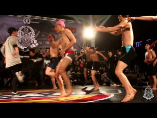 BBOY CREW BATTLE Best 8 2 over the top vs Invincible | 20160219 TC 13th anniversary