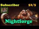 Dota 2 - Nightforge Plays Pudge - 67 Flesh Heap 52 Kills - Subscriber Gameplay!