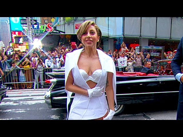Lady Gaga Stuns on 'GMA' With Paper Dress