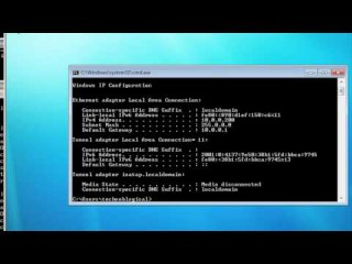 Windows command line networking: route