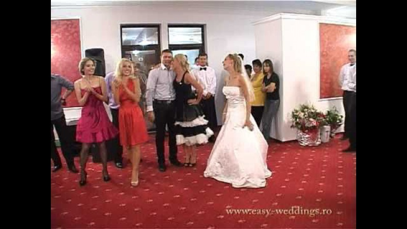 Best funny surprise bride dance French Can Can