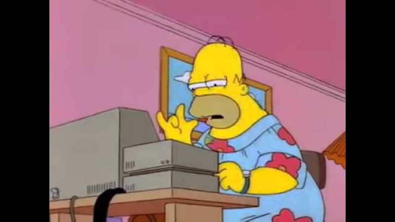 To start press any key. The Simpsons