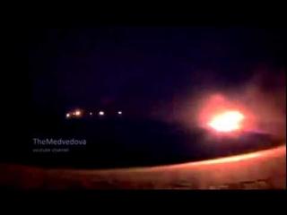 Град ДНР бьет по силам АТО / Ukraine BM 21 Grad militias firing