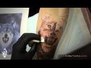 Art by Tonho Wolf Tattoo Black And Gray Realistic tatuaje realista