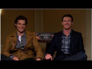 Immortals Stars Henry Cavill and Luke Evans Talk Sex Scenes