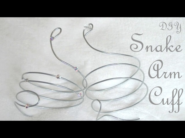 DIY Snake Arm Cuff Jewelry