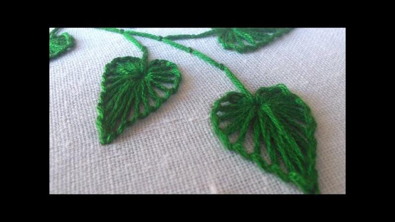 Hand Stitching | Button Hole Stitch Leaves | HandiWorks 27