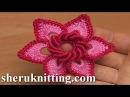 Irish Crochet Double Layered Flower Tutorial 19
