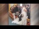 Boy nearly ruins wedding after diving into brides dress