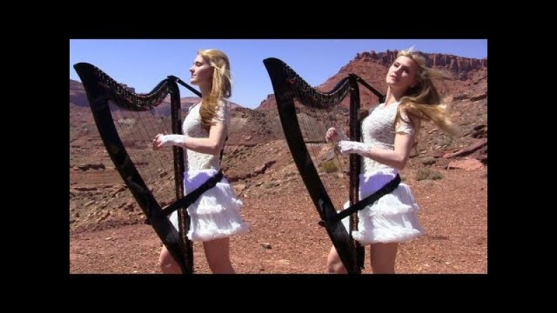 SCORPIONS - Send Me An Angel - Harp Twins (Camille and Kennerly) HARP ROCKMETAL