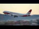 Взлет самолета Ту-204 авиакомпании Red Wings. Австрия, Зальцбург.
