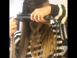 Прическа: локоны с помощью  утюжка  для волос