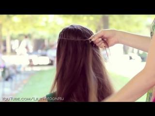 Коса принцессы французский водопад ★ Причёска с плетением на средние, длинные волосы