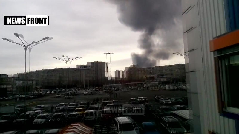 В Харькове горит рынок Барабашова