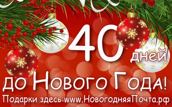 До нового года 40 дней